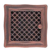 Вентиляционная каминная решетка Deco с жалюзи, медная патина