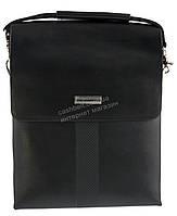 Удобная черная прочная мужская сумка с качественной PU кожи LANGSA art. TP6680-4 черная, фото 1