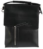 Удобная черная прочная мужская сумка с качественной PU кожи LANGSA art. TP6755-3 черная, фото 1