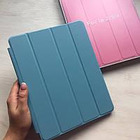 Голубой кожаный чехол Smart case для iPad 2/3/4