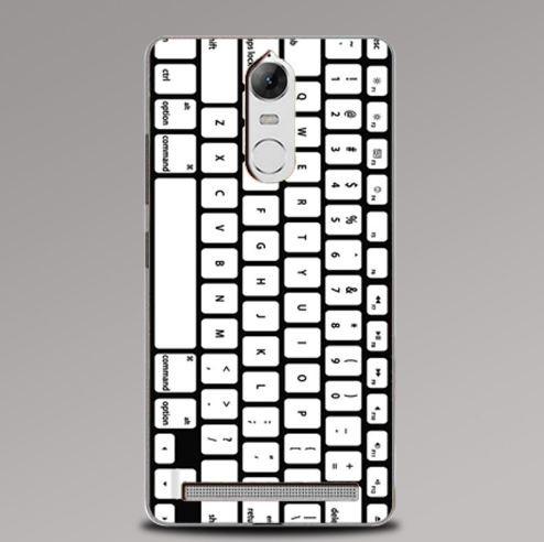 Оригинальный бампер для Lenovo A7020 / Vibe K5 Note с картинкой Клавиатура  - купить по лучшей