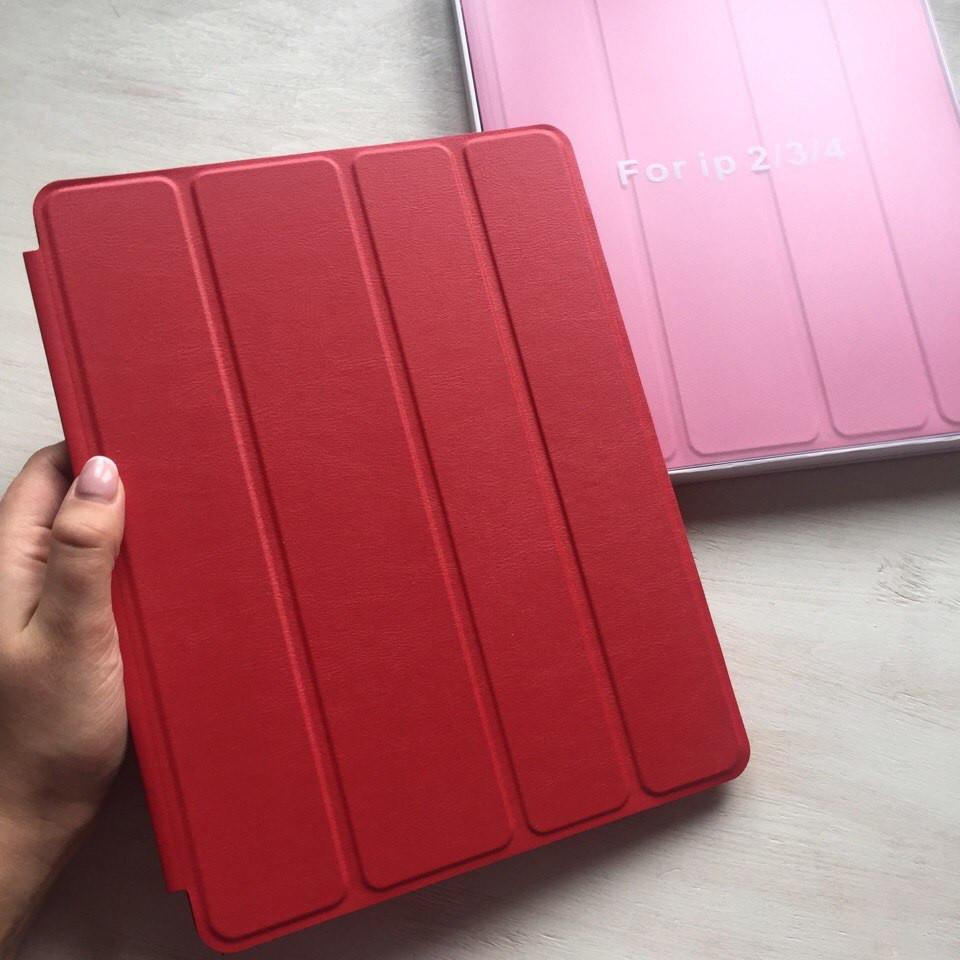 Красный кожаный чехол Smart case для iPad 2/3/4