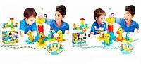 Детская игра-конструктор Счастливый мир 663/665, музыкальные и световые эффекты, фото 1