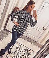 Легкая женская рубашка креп-шифон