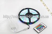 Лента светодиодная SMD 3528   (RGB, влагостойкая, 60 крист/1м, бухта 5м)  (+ RGB-контроллер)