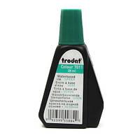 Краска штемпельная TRODAT 7011 зеленая 28 мл.