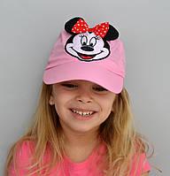 Летняя шапка Бейсболка микки от 3 до 4 лет. Есть р.50-52св.розовый, малина и 52-54 св.розовый