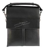 Удобная маленькая черная прочная мужская сумка с качественной PU кожи POLO art. TP6771-1 черная, фото 1