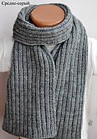 Детский и взрослый шарф Аляска. 128х14 см. Бел, т.син, св.сер, сред.сер, гол, бирюз,серо-гол, т.корич, роз, молоко, морской и др.