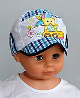 Летняя шапка Кепка Тема. 1-3 года. р. 46- Бирюза,синий,р.50-синий