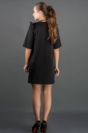 Женское платье свободного кроя, рукав 3/4 Блуми цвет черный размер 44-52, фото 2