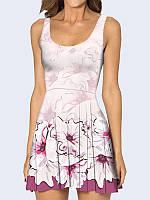 Платье Лиловые цветы