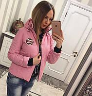 Женская весенняя куртка с нашивкой, в расцветках