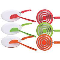 Сковорода блинная Maestro Rainbow диаметр 25 см (красная, оранжевая, зеленая)+лопатка