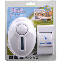 Беспроводной звонок электрический SMART 9620 DC, 12 V, питание звонка и кнопки от батареек