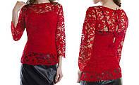 Блуза ажурная с бантиками на спине женская (гипюр), фото 1