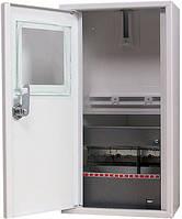 Шкаф e.mbox.stand.n.f1.08.z металлический, под 1-ф. счетчик, 8 мод., навесной, с замком, фото 1