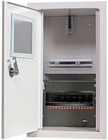 Шкаф распределительный e.mbox.stand.w.f1.08.z под однофазный счетчик+ 8 мод. встраиваемый замком, фото 1
