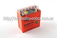 """АКБ   12V 5А   гелевый (высокий)   """"OUTDO""""   (119x60x128, оранжевый, с индикатором заряда, вольтметром)"""