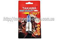 """Лампа BA20D (2 уса)   12V 35W/35W   (супер белая, высокая)   """"TAKAWA""""   (блистер)"""