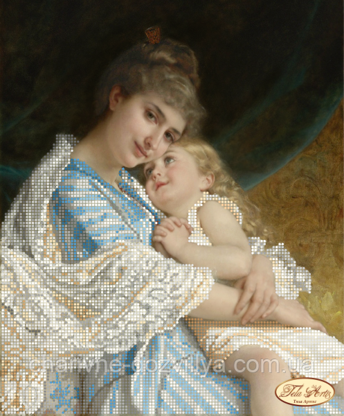 Схема для вишивки бісером Мама з донькою