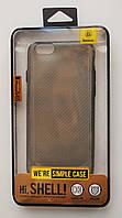 Чехол на Айфон 6/6s Baseus Simple тонкий Силикон Прозрачный Темный, фото 1