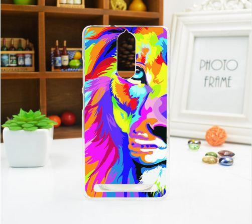Оригинальный чехол панель накладка для Lenovo A7020 / Vibe K5 Note с картинкой Цветной лев