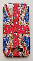 Чехол на Айфон 6/6s Ted Baker soft touch приятный Пластик Флаг Великобритании