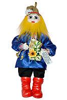 """Кукла-оберег """"Домовой Ивашка"""", 39 см синий"""