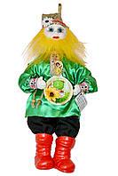 """Кукла-оберег """"Домовой Ивашка"""", 39 см зеленый"""