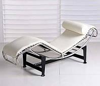 Шезлонг Лекор белый, точная копия шезлонга Le Corbusier LC4 для спа-салонов, оборудование для салонов красоты