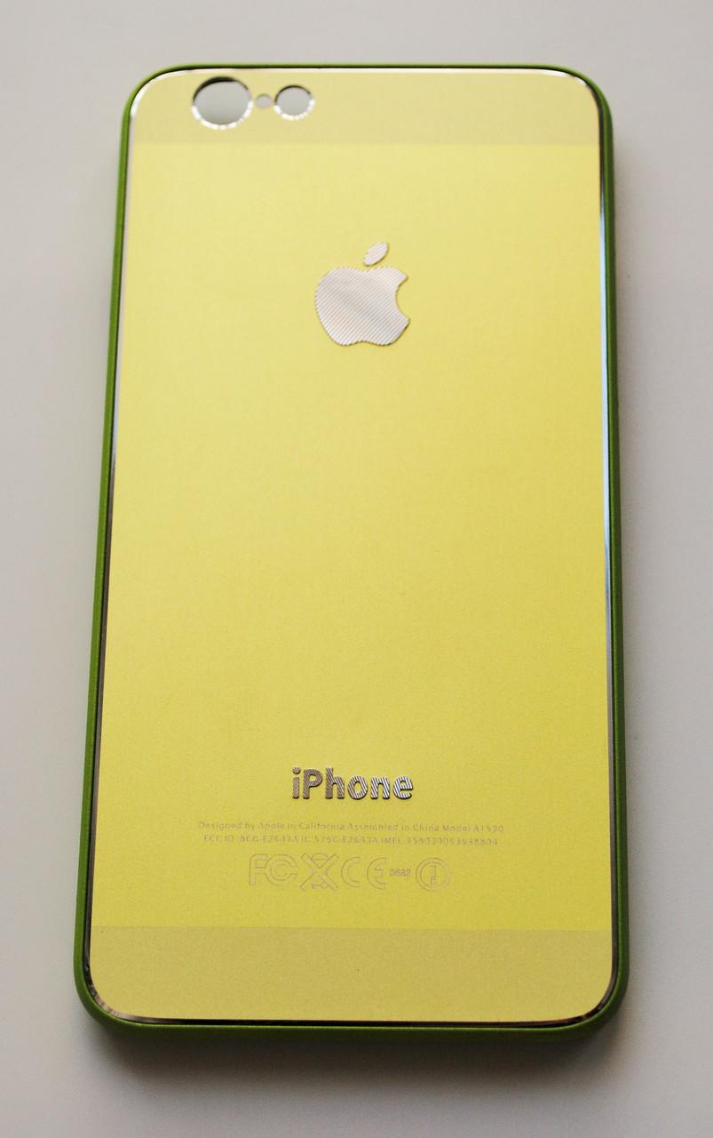 Чехол на Айфон 6/6s Металл с Пластиком Зеленый