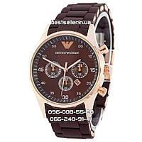 Часы Emporio Armani Silicone 3857 gold/brown (кварц).