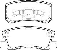 Тормозные колодки MITSUBISHI OUTLANDER XL (CW_W) 11/2006- дисковые задние, Q-TOP (Испания)  QE0410E