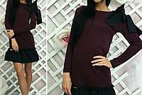 Платье с воланом трикотажное женское, фото 1