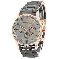 Часы Emporio Armani Silicone 2255 gold/grey (кварц)., фото 1