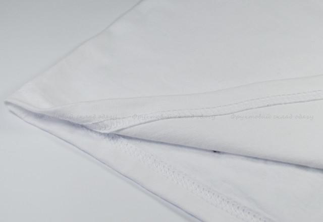 Мужская футболка с цветными длинными рукавами Белый/Глубокий тёмно-синий