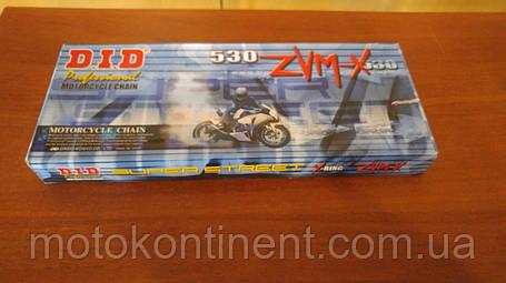 Мото цепь  530 DID 530ZVM-X 112 Стальная для мотоцикла ( в к-те замок ZJ) сальник X 2 -Ring, фото 2