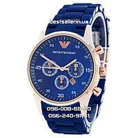 Годинник Emporio Armani Silicone 2331 gold/blue (кварц).