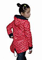 Курточка ветровка на флисе для девочек