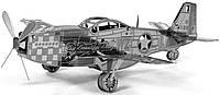 3D металлический конструктор Истребитель Р-51 Mustang, фото 1