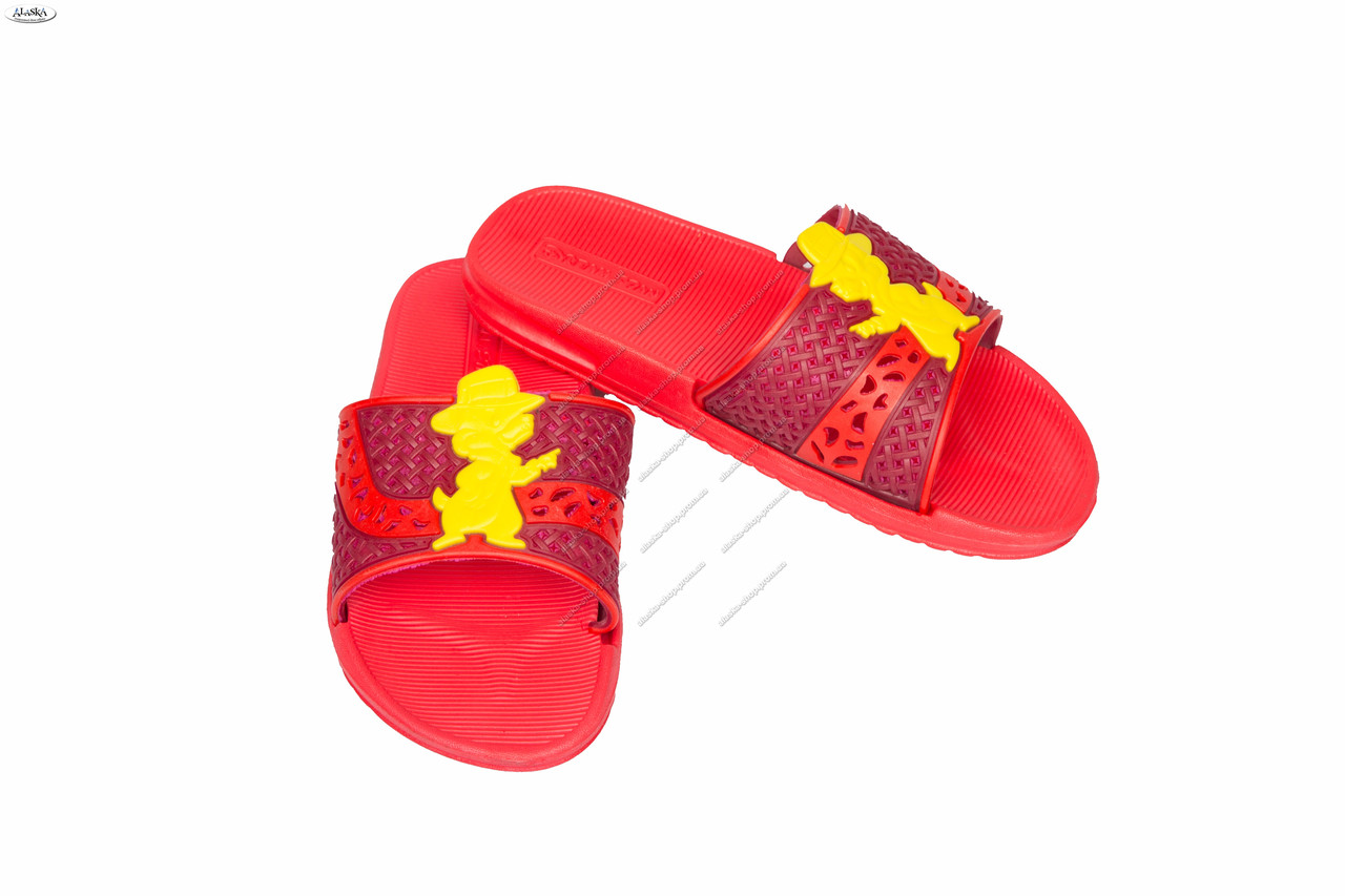 Детские сандалики красные (Код: ТПД-07)