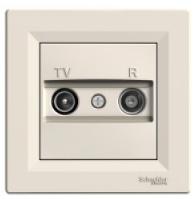 Schneider Electric Asfora Розетка TV/R проходная (8дБ) кремовая