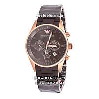 Часы Armani AR5890 Gold/Brown (Кварц). Реплика: AAA.