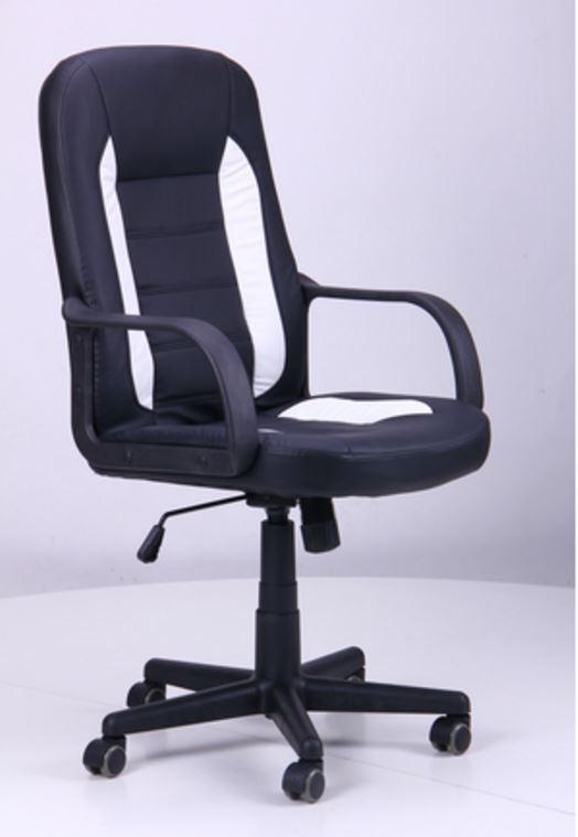 Кресло Дрифт (1699) к/з PU черный/белые вставки