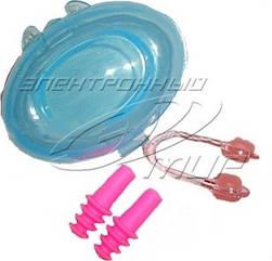Набор для плавания Sprinter (беруши+зажим носа+коробочка), силикон, на блистере DSG-3971