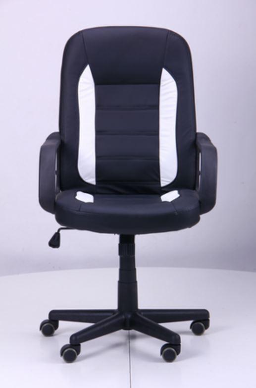 Кресло Дрифт (1699) к/з PU черный/белые вставки (фото 2)