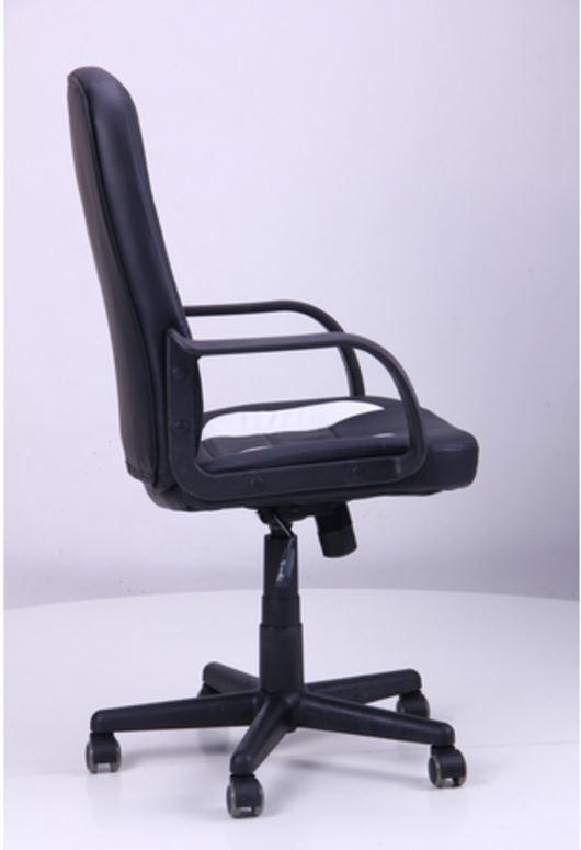 Кресло Дрифт (1699) к/з PU черный/белые вставки (фото 3)