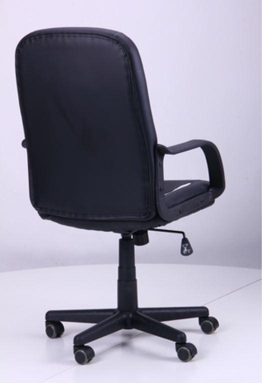 Кресло Дрифт (1699) к/з PU черный/белые вставки (фото 4)