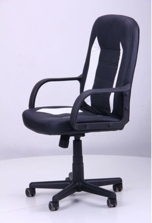 Кресло Дрифт (1699) к/з PU черный/белые вставки (фото 5)